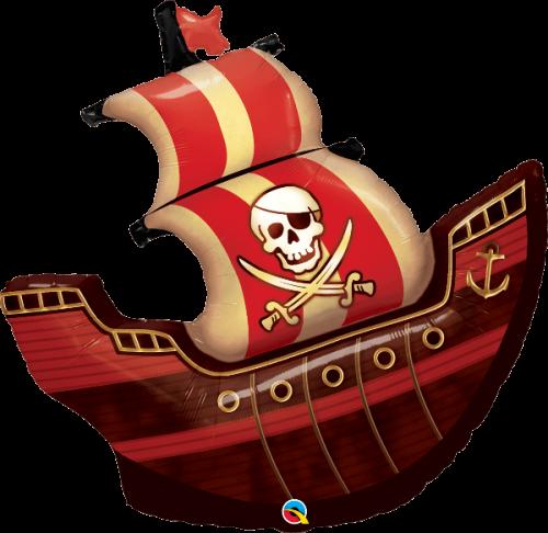 Globo metálico Barco Pirata