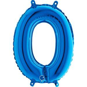 Globo número 1 metálico 36cm azul
