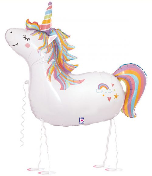 Globo andarín unicornio 106cm