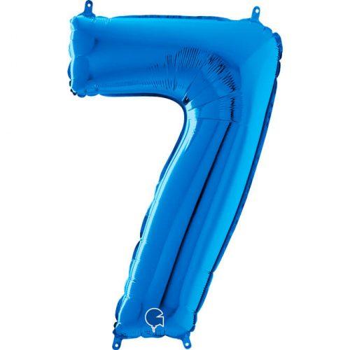 Globo número 7 metálico 66cm azul