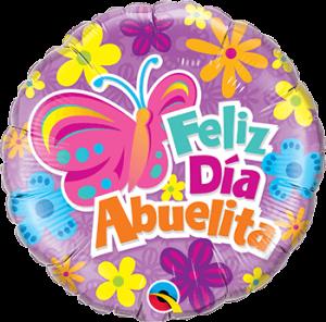 Globo metálico Feliz día Abuelita