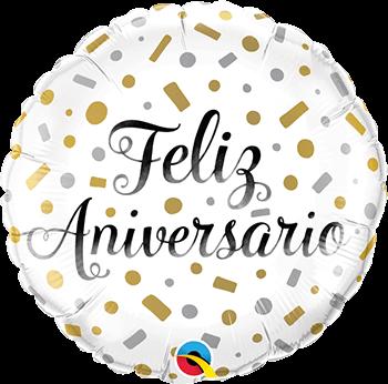 Globo metálico Feliz Aniversario