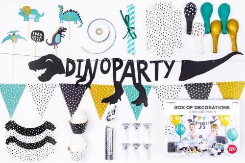 Kit decoración fiesta cumpleaños Dinosaurio