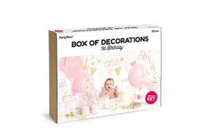Kit decoración fiesta Primer año rosa