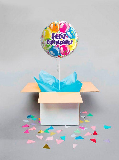 Globo sorpresa Feliz cumpleaños globos