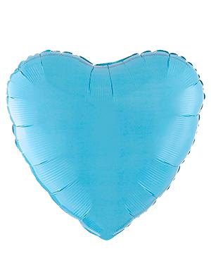 Globo metálico corazón Azul pastel mate