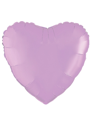 Globo metálico corazón Lila pastel mate
