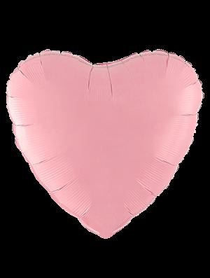 Globo metálico corazón Rosa pastel mate