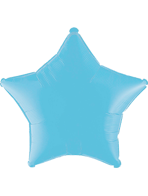 Globo metálico estrella Azul pastel mate