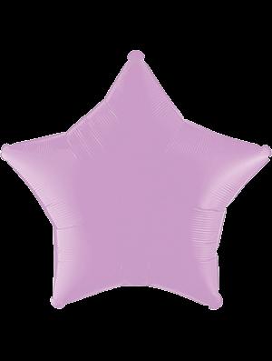 Globo metálico estrella Lila pastel mate