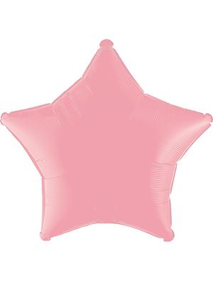 Globo metálico estrella Rosa pastel mate