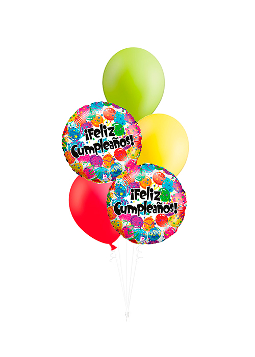 Bouquet de globos Feliz Cumpleaños globos