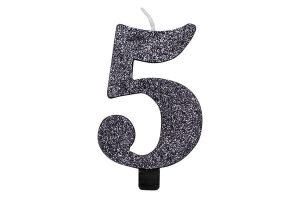 Velas cumpleaños purpurina color Negro 5