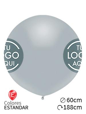 Globos personalizados estándar látex 60cm