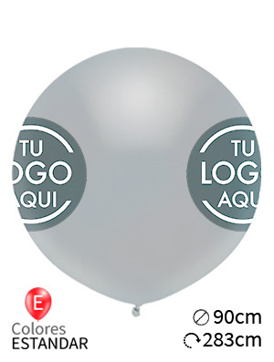 Globos personalizados estándar látex 90cm