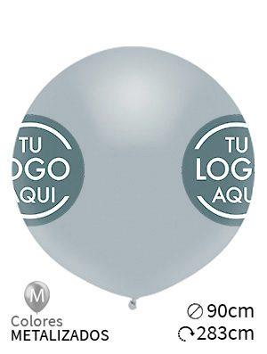 Globos personalizados metalizados látex 55cm