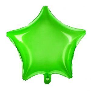 Globo estrella transparente Verde