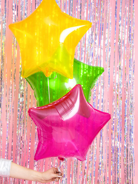 Globo estrella transparente color Verde