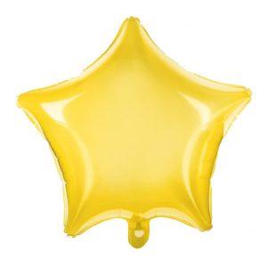 Globo estrella transparente Amarillo