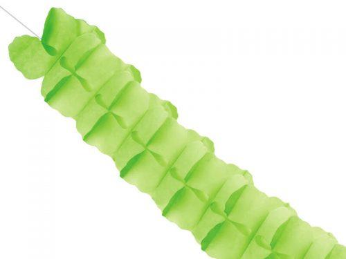 Guirnalda de papel tisú color verde manzana