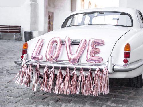 Decoración coche boda