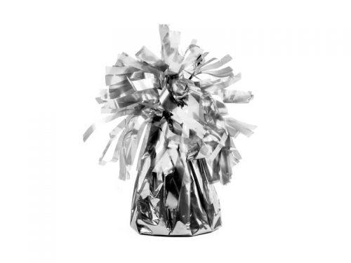 Peso para globos saquito con pompón plata