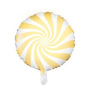 Globo metálico caramelo Amarillo
