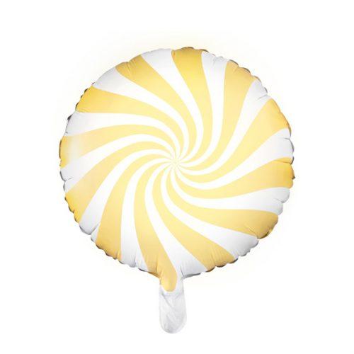Globo metálico caramelo