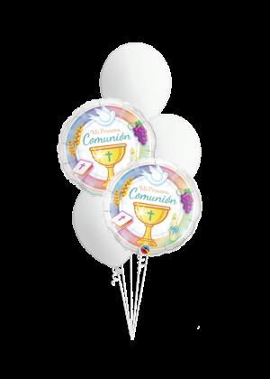 Bouquet de globos Primera Comunión Símbolos