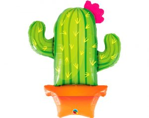 Globo metálico Cactus