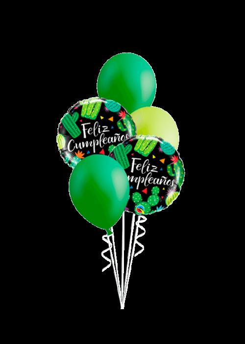 Bouquet de globos Cumpleaños cactus