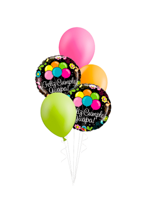 Bouquet de globos Feliz cumple, guapa!