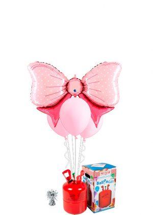 Helio + Bouquet Lazo rosa