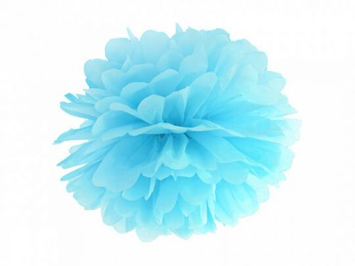 Pompon de papel color Celeste