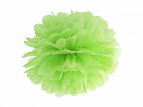 Pompon de papel color Verde lima