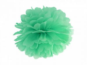 Pompon de papel color Verde menta