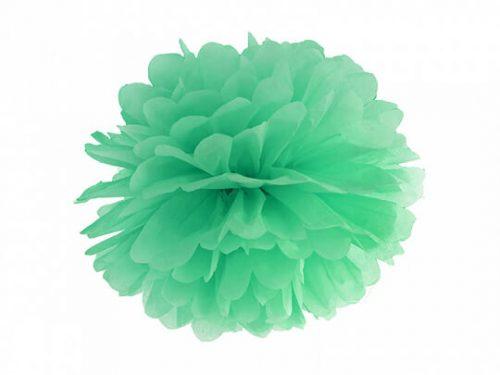 Pompon de papel color Verde menta
