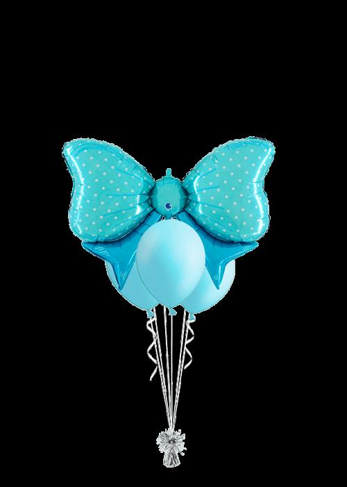 Bouquet de globos Lazo azul