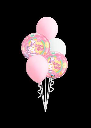 Bouquet de globos Es una niña pony