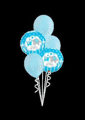 Bouquet de globos Es un niño elefantes