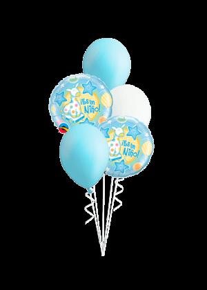 Bouquet de globos Es un niño jirafa