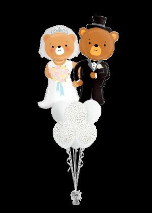 Bouquet de globos boda Ositos