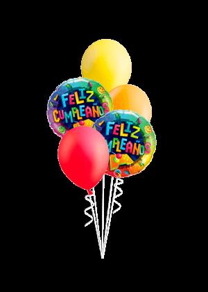 Bouquet de globos Feliz Cumpleaños videojuego