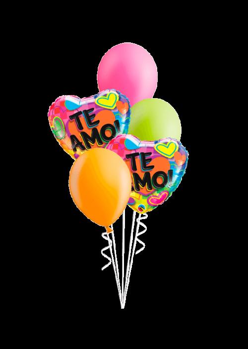 Bouquet de globos Te Amo