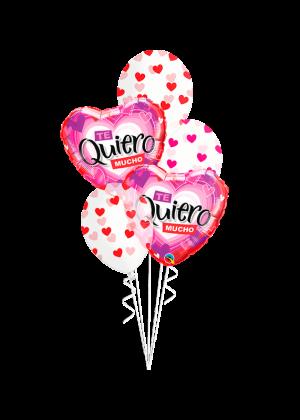 Bouquet de globos Te Quiero mucho