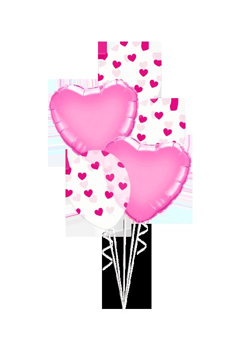 Bouquet de globos Latex foil rosa