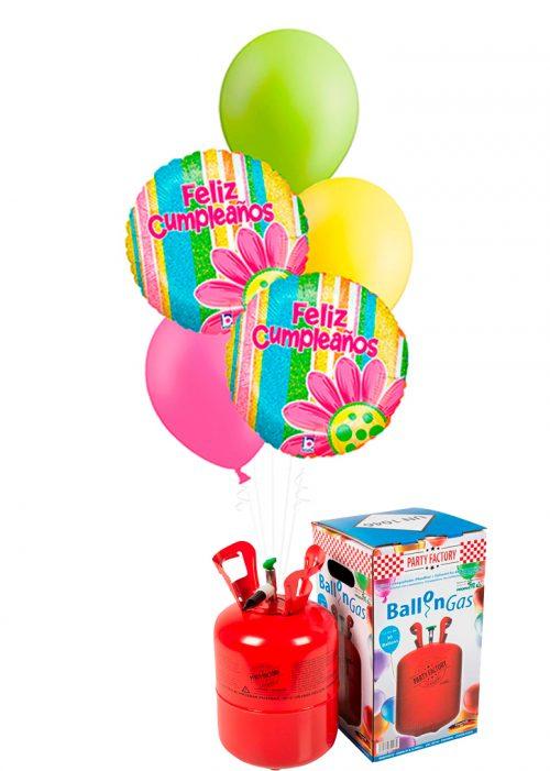 Helio + Bouquet Feliz Cumpleaños flor