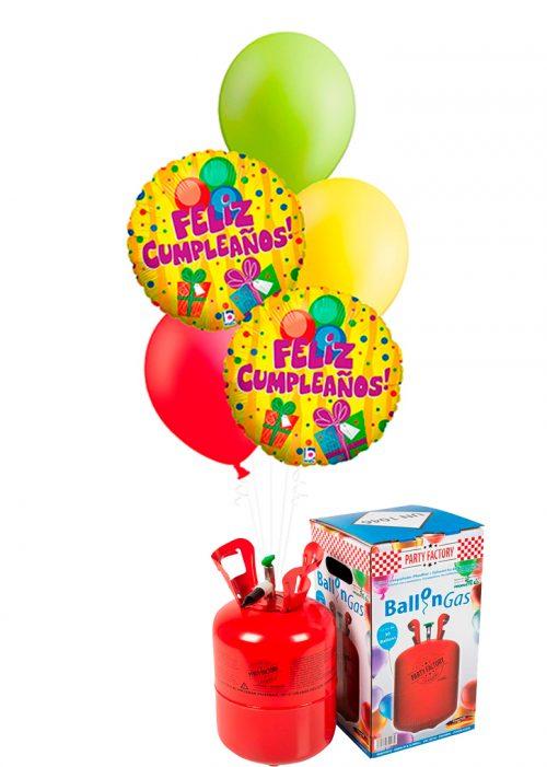 Helio + Bouquet de globos Cumpleaños regalo