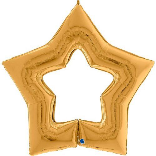 Globo metálico Estrella Linky dorado