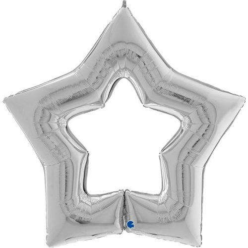 Globo metálico Estrella Linky plata